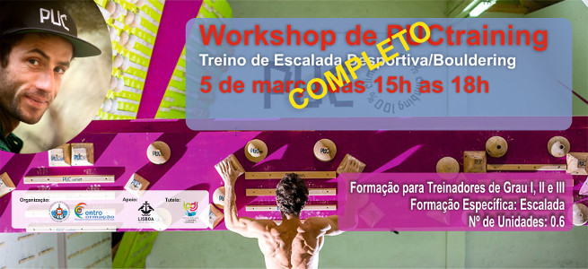 Workshop de Puctraining-Treino de Escalada Desportiva/Bouldering